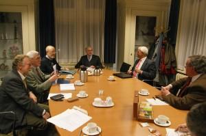 Het bestuur vergadert